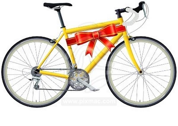 На велосипеде с подарком 818